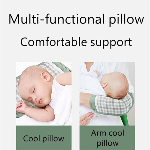 BC Babycare Ramie Baby Pillow Summer Anti-mite Bacteriostatic Sleep Cassiae Cool Pillow Newborn Breastfeeding Breathable Arm Mat