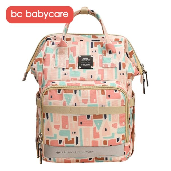 BC Babycare Insulated Waterproof Travel Backpack Diaper Bag Organizer Large Capacity Tote Shoulder Nappy Bags Mommy Backpack