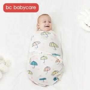 BC Babycare Pakistan Cotton Soft Sleeping Bag Baby Fashion Animals Printed Swaddle Blanket Wrap Newborn 0-3M Sleeping Bags