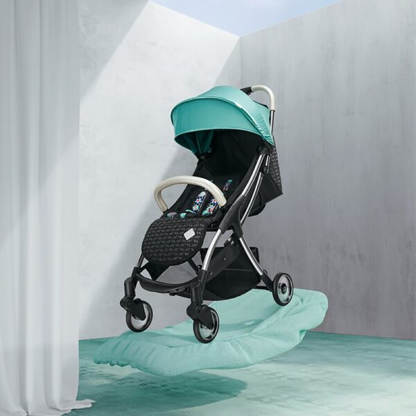 BC Babycare Automatic Folding Baby Stroller Sit Lying Shock Absorbers Travel Visible Lightweight Umbrella Strollers for Babies