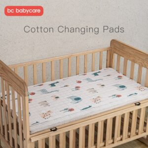 BC Babycare Baby Waterproof Mat Infant Reusable Diaper Cotton Changing Pads Cover Foldable Washable Portable Skin-friendly Sheet