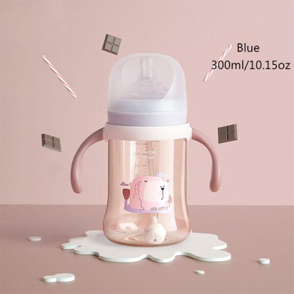 BC Babycare Baby Bottles Feeding Detachable Gravity Ball Anti-flatulence Milk Drinking Water Silicone Nipple Wide-Caliber Bottle