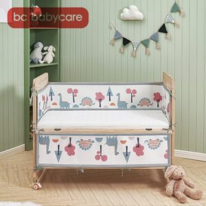 BC Babycare Toddler Bed Bumpers Animals Print Breathable Thicken Mesh Bumper Crib Protector Cot Newborns Bedding Set Room Decor
