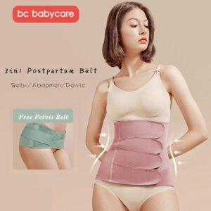 BC Babycare Postpartum Belly Bandage Slimming Corset Body Shaper Shapewear Waist Abdomen Pelvis Trainer Recovery Belly Belt