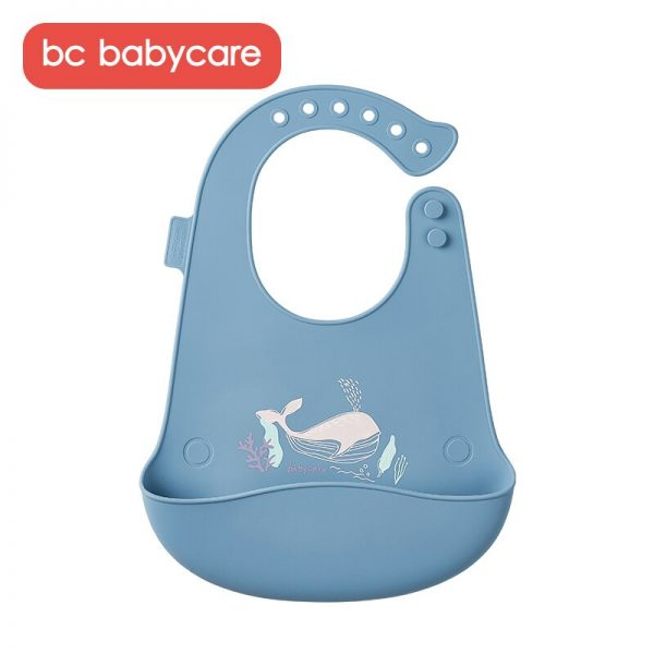 BC Babycare Unisex Silicone Waterproof Baby Bibs Adjustable Feeding and Weaning Toddlers Infants Bibs Food Catcher Bibs BPA Free