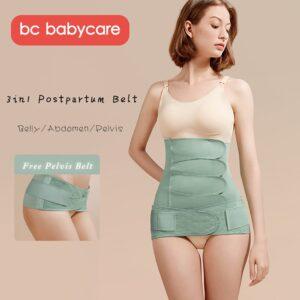 BC Babycare 3in1 Belly/Abdomen/Pelvis Postpartum Belt Gauze/Modal Silk Body Recovery Waist Belly Slimming Trainer Corset Band