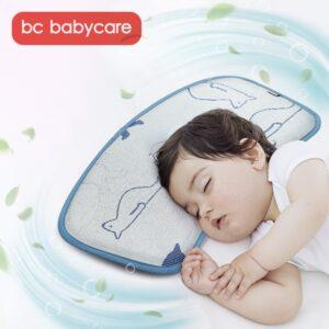 BC Babycare Ice silk Baby Pillow Summer Animal Adjustable Antibacterial Anti-mite Newborn Toddler Cooling Sleeping Pillow Mat