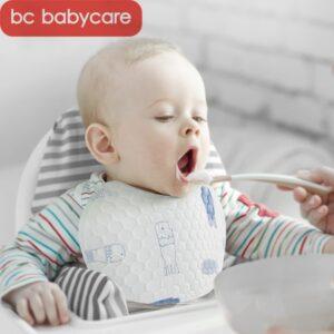 BC Babycare 50 Pcs Baby Bibs Printed Breathable Soft Newborn Cute Saliva Towel Portable Sticky Waterproof Disposable Bib