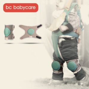 BC Babycare 1 pair Baby Knee Pads Protector Breathable Soft Silicone Non-Slip Safety Crawling Toddler Kids Kneecap Leg Pad