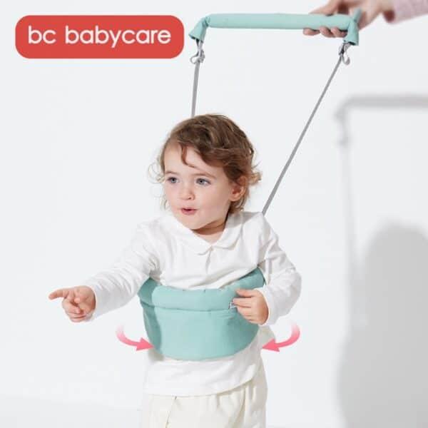 BC Babycare Cotton Baby Walker Safety Harness Leashes Adjustable Toddler Learing Walking Assistant U-shape Belt