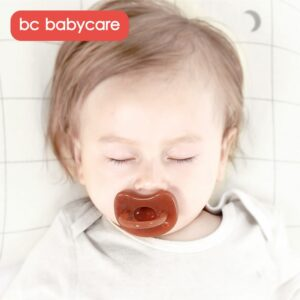 BC Babycare Unisex Comfort Silicone Newborn Babies Silicone Pacifier Night Soothie Pacifier for Breastfed Babies