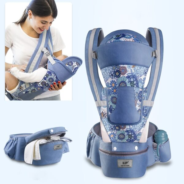 New 0-48 Month Ergonomic Baby Carrier Infant Baby Hipseat Carrier 3 In 1 Front Facing Ergonomic Kangaroo Baby Wrap Sling